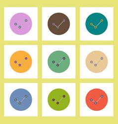 flat icons set of progress statistics concept on vector image