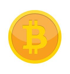 flat modern design concept of bitcoin vector image