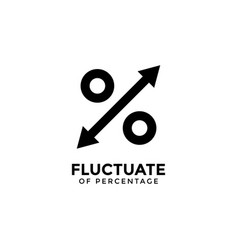 fluctuate percentage graphic design template vector image