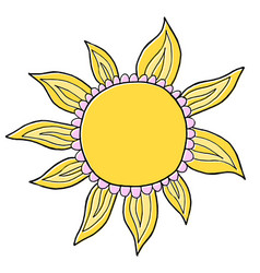 Funny doodle suns hand drawn vector
