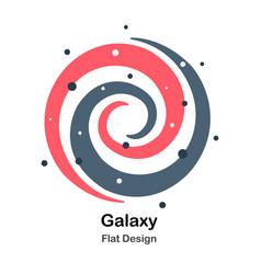 Galaxy flat vector