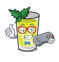 Gamer mint julep mascot cartoon vector