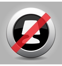 Gray chrome button - no lamp vector