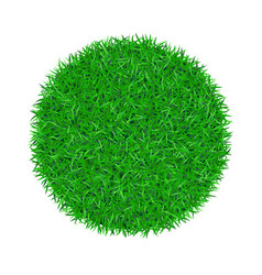 Green grass circle 3d green round ball isolated vector