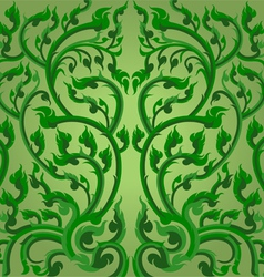 Green winding vines vector