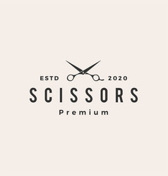 hair scissor hipster vintage logo icon vector image