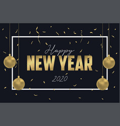 happy new year greeting card for 2020 year design vector image