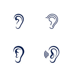 Hearing icon template vector