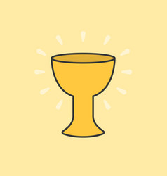 holy grail color and outline icon vector image