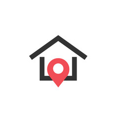 house pin graphic design template isolated vector image