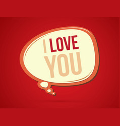i love you text in balloons vector image