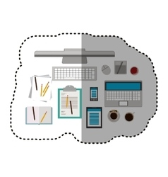 Isolated gadgets and document design vector