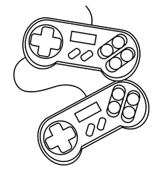 Isolated videogame control silhouette vector image