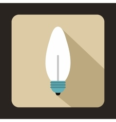 Lamp oval shape icon in flat style vector
