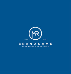 Letter mr logo design vector