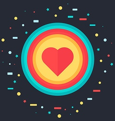 Like Icon with Heart vector