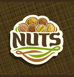 logo for nuts vector image