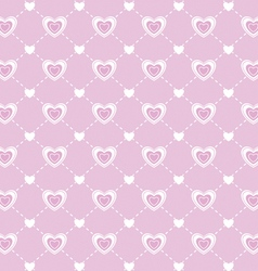 Love valentines day seamless pattern vector image
