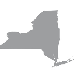 Map of the US state of New York vector