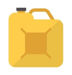 Metal canister of gasoline cartoon flat vector