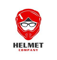 motorcycle helmet logo design vector image