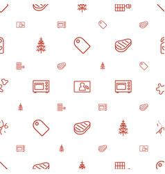 new icons pattern seamless white background vector image