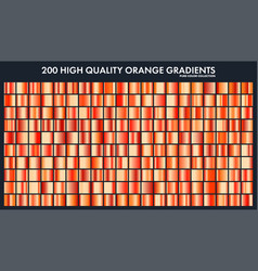 Orange chrome gradient setpatterntemplatesun vector