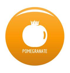 Pomegranate icon orange vector