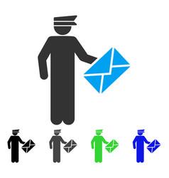 postman flat icon vector image