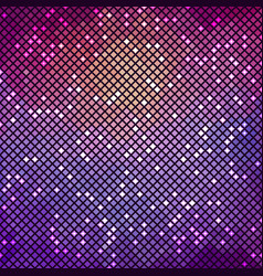 purple mosaic background square with round corners vector image