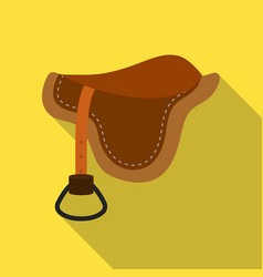 saddle icon in flat style isolated on white vector image