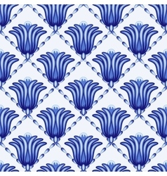 Seamless geometrical pattern in style Gzhel A vector image