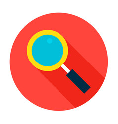 Search flat circle icon vector