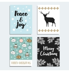 Set of christmas new year greeting journal cards vector image