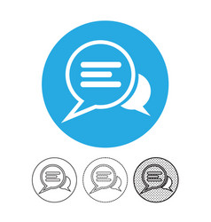 speech bubble chat icon vector image