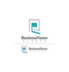 square letter r company logo vector image