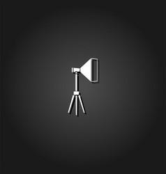 studio lighting icon flat vector image