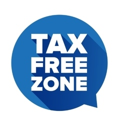 Tax free blue speech bubble vector