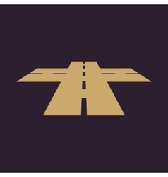 The crossroads icon Crossway and crossing vector