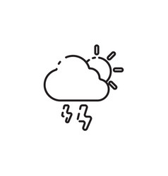Thin line rainy icon vector