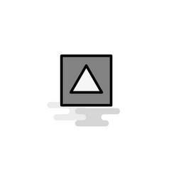 traingle shape web icon flat line filled gray icon vector image