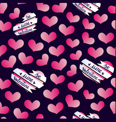 valentines hearts banner pattern vector image