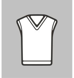 Vest on background vector image