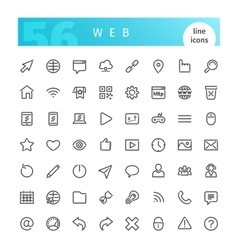 Web Line Icons Set vector