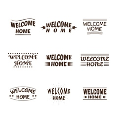 Welcome home design collection set of 9 labels vector