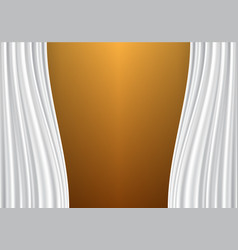 white curtain on gold design background vector image