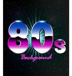 80s Retro Background vector image vector image