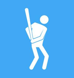 baseball sport figure symbol graphic vector image