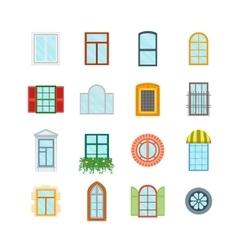 Cartoon Windows Set vector image