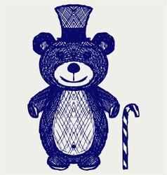 Creative teddy bear vector image vector image